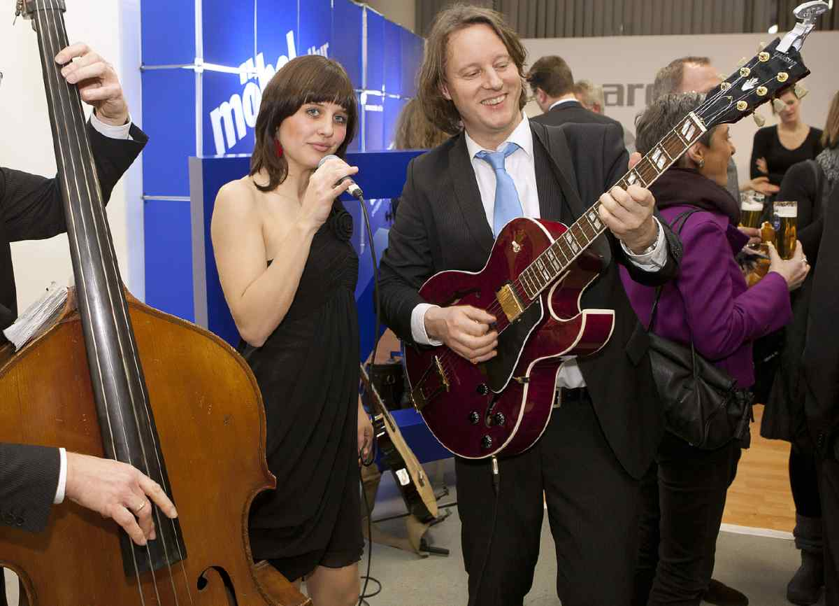 Jazzband zur Messeparty - Standparty der Messe mit Lounge-Musik