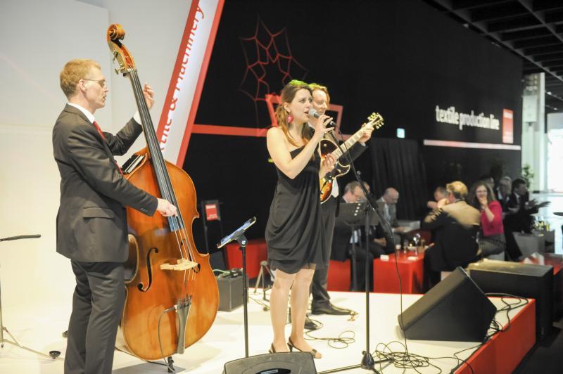 Jazzband spielt live zum Event